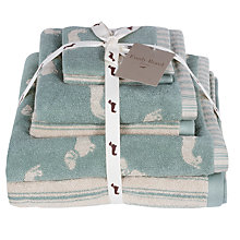 Buy Emily Bond Dachshund Towel Bale, Duck Egg Online at johnlewis.com