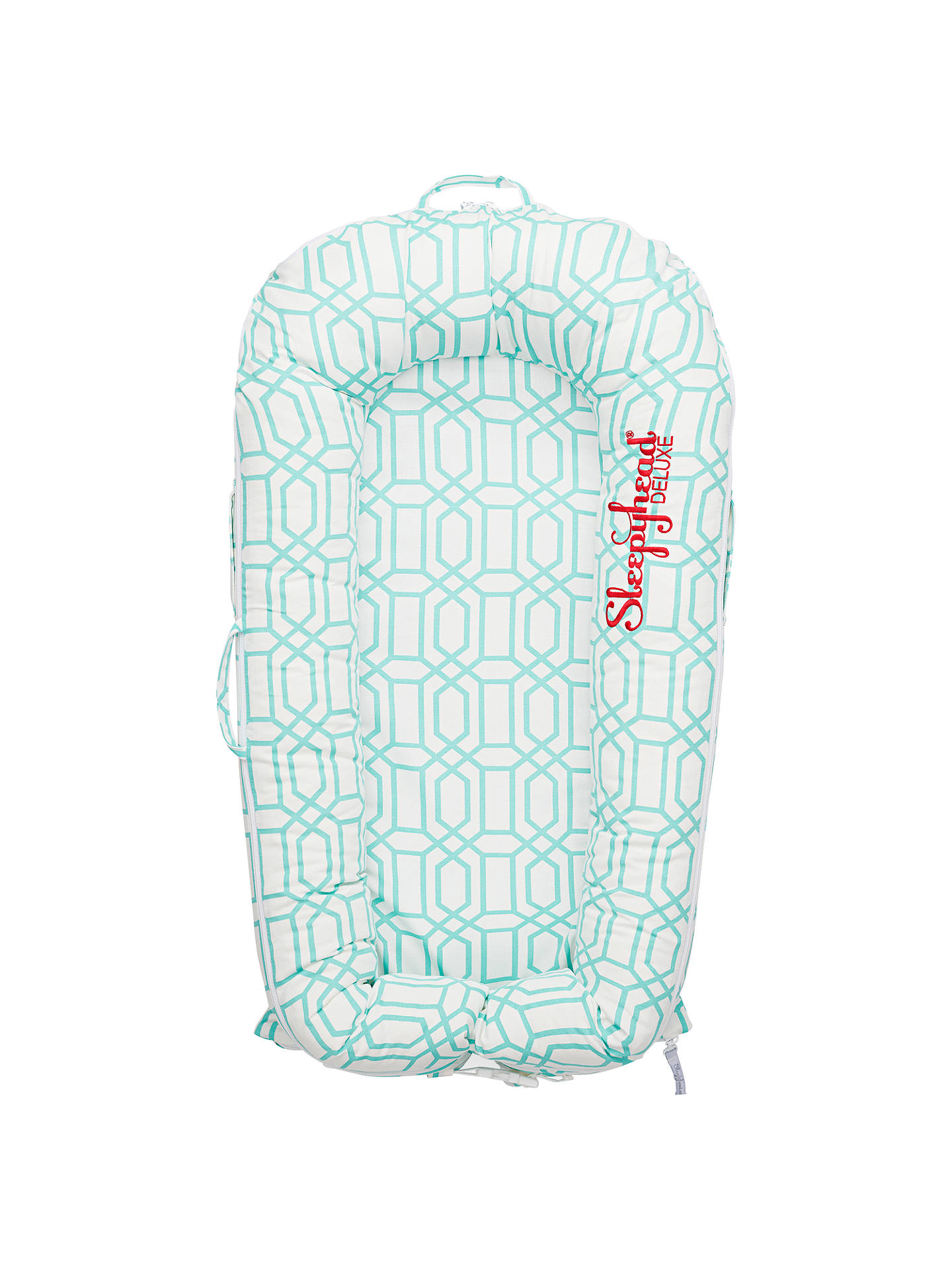 Buy Sleepyhead Deluxe+ Minty Trellis Baby Pod Cover, 0-3 months Online at johnlewis.com