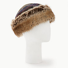 Buy Barbour Tartan Ambush Hat, Green Online at johnlewis.com