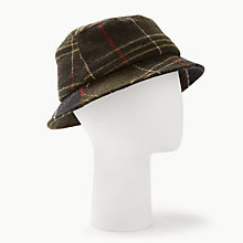 Buy Barbour Galloway Tartan Bucket Hat, Green/Multi Online at johnlewis.com