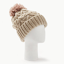 Buy Barbour Cragside Bobble Hat, Pink Online at johnlewis.com