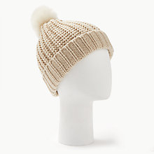 Buy Barbour Saltburn Beanie Hat, Cream Online at johnlewis.com