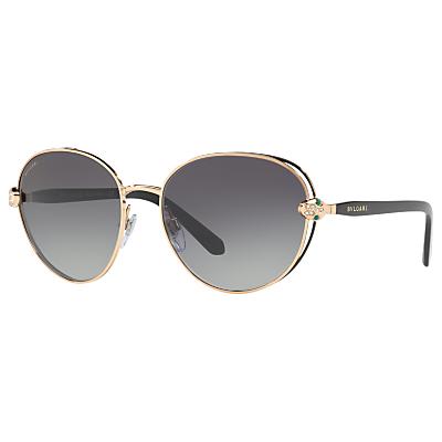 BVLGARI BV6087B Embellished Oval Sunglasses