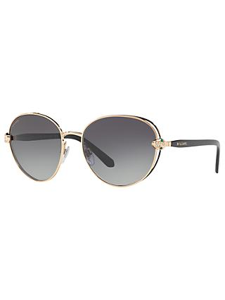 BVLGARI BV6087B Embellished Oval Sunglasses