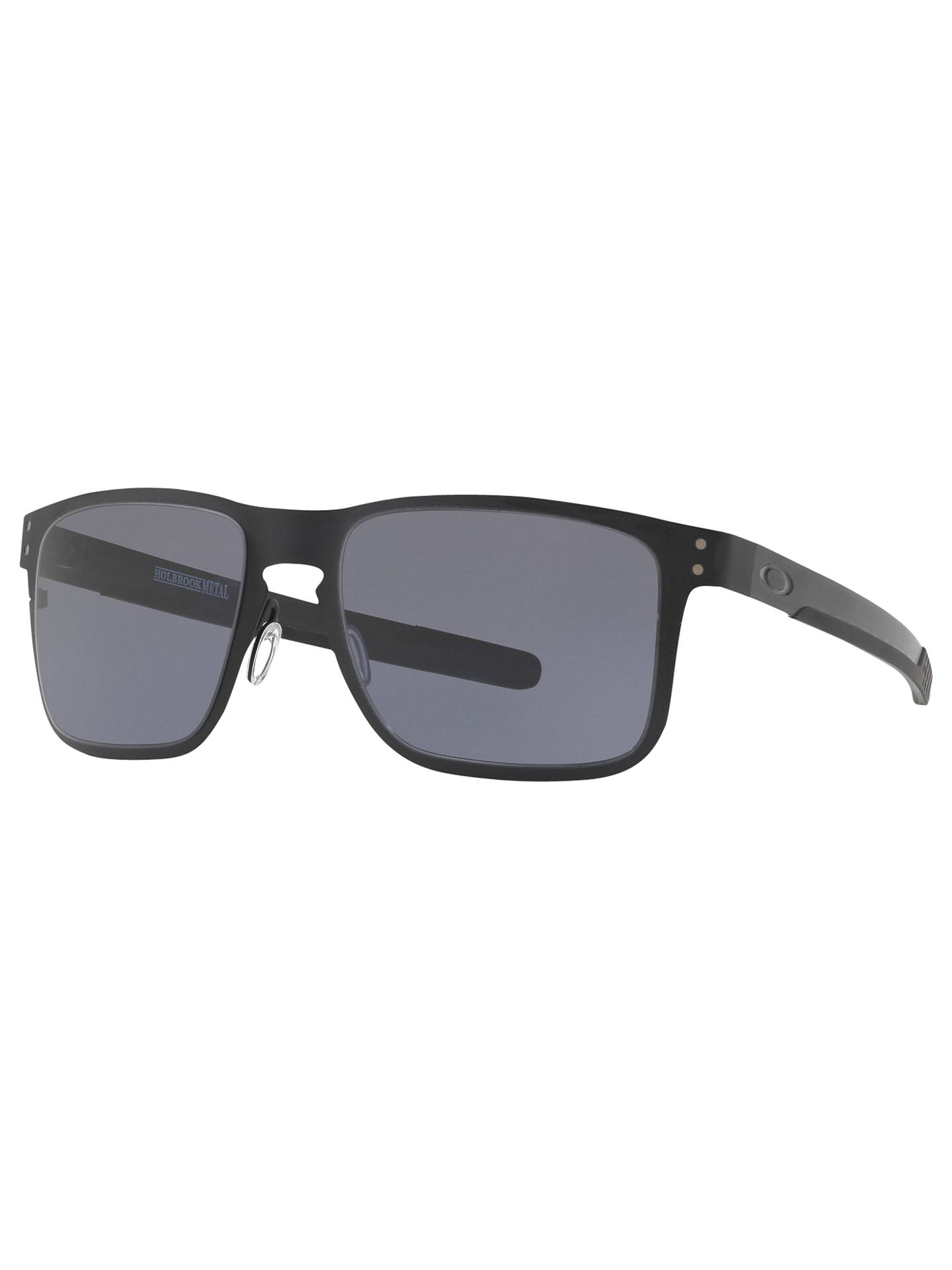 561fe40f4c7 ... polarized 5dd6b dd0a3  cheapest buyoakley oo4123 mens holbrook metal  square sunglasses black grey online at johnlewis. 798f6 fd444