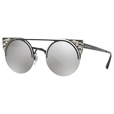 BVLGARI BV6088 Embellished Round Sunglasses