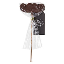 Buy Dark Chocolate Moustache Lolly, 25g Online at johnlewis.com