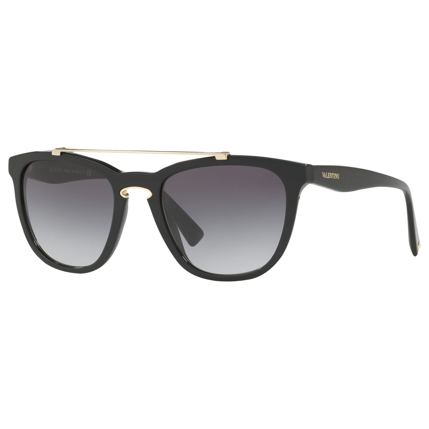 Valentino Valentino VA4002 Square Sunglasses, Matte Black/Grey Gradient