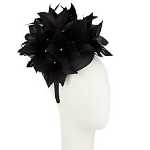 Buy John Lewis Alison Feather Flower Pillbox Fascinator, Black Online at johnlewis.com