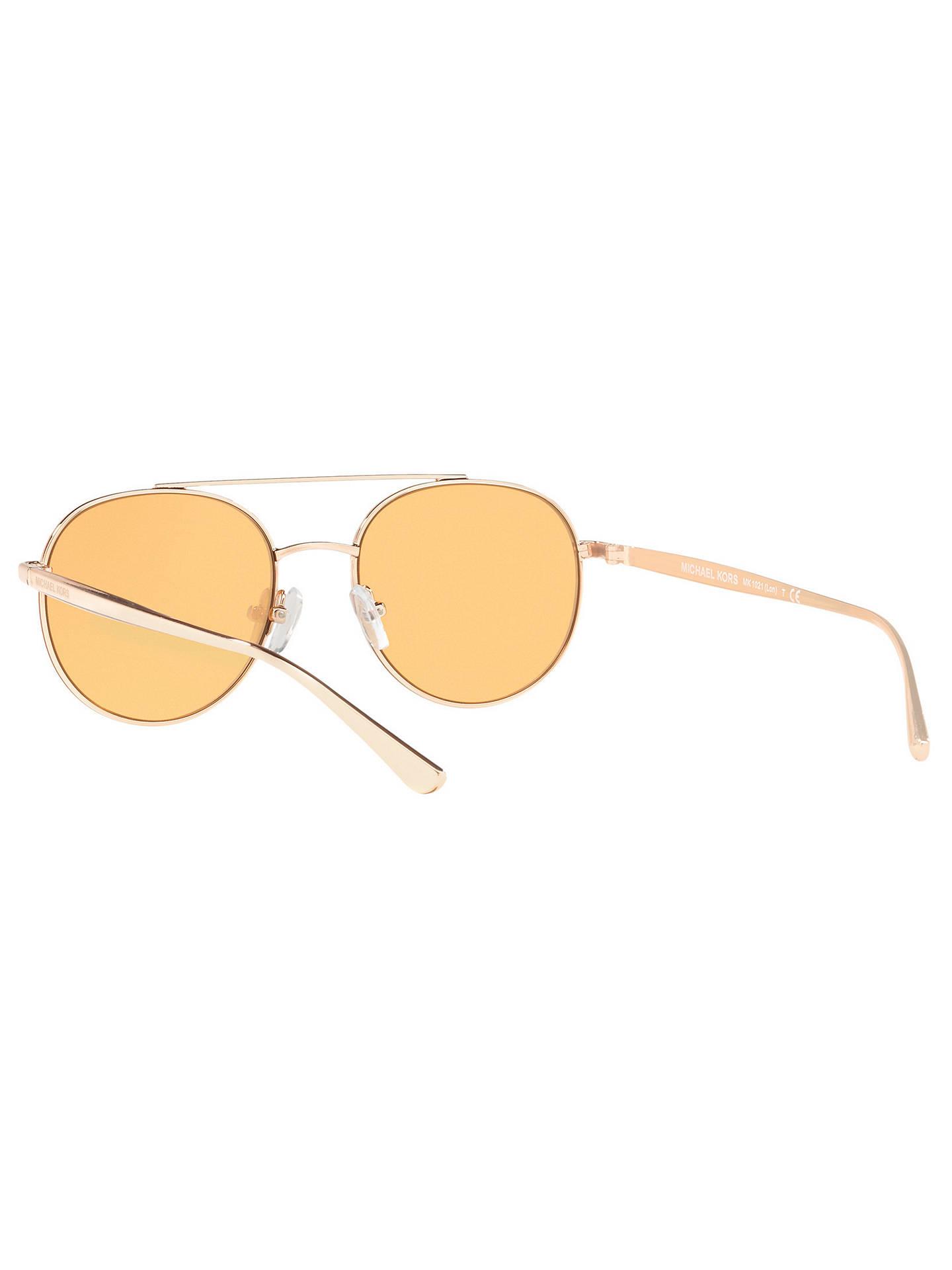 9eb3f47af ... Buy Michael Kors MK1021 Lon Round Aviator Sunglasses, Gold/Mirror  Orange Online at johnlewis ...