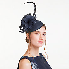Buy John Lewis Gloria Shantung Pillbox Fascinator, Navy Online at johnlewis.com