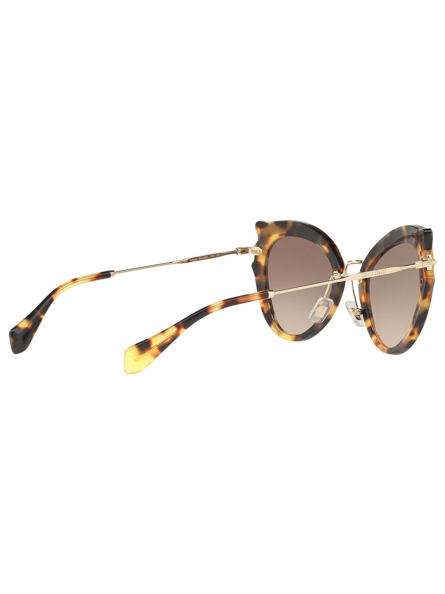 dca10b59af Miu Miu MU 05SS Cat s Eye Sunglasses at John Lewis   Partners