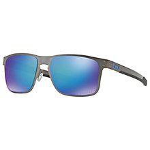 Buy Oakley OO4123 Holbrook Prizm Polarised Metal Square Sunglasses Online at johnlewis.com