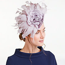 Buy John Lewis Mary Silk Flower Disc Fascinator, Dusty Pink Online at johnlewis.com