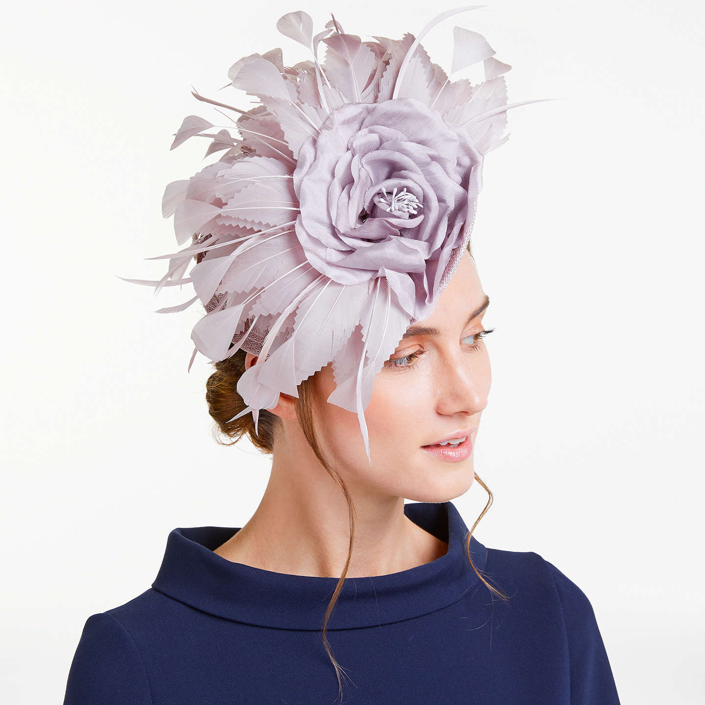 John lewis mary silk flower disc fascinator dusty pink at john lewis buyjohn lewis mary silk flower disc fascinator dusty pink online at johnlewis mightylinksfo