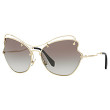 Buy Miu Miu MU 56RS Cat's Eye Sunglasses Online at johnlewis.com