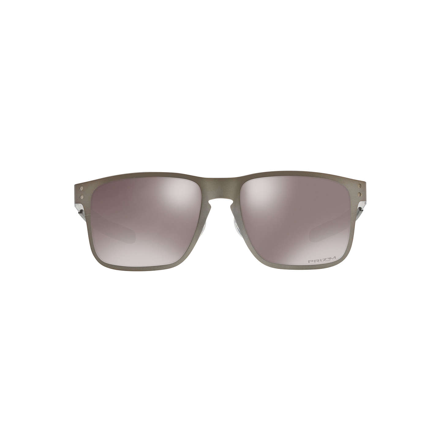 BuyOakley OO4123 Holbrook Prizm Polarised Metal Square Sunglasses, Matte Grey/Mirror Beige Online at johnlewis.com