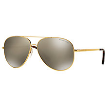 Buy Michael Kors MK5016 Kendall I Aviator Sunglasses, Gold/Mirror Beige Online at johnlewis.com