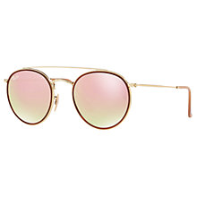 john lewis mens ray ban sunglasses  buy ray ban rb3647n double bridge round sunglasses online at johnlewis