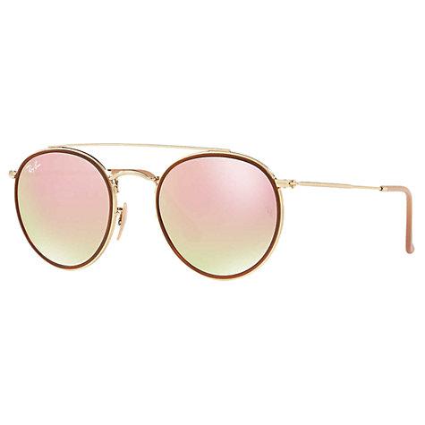 buy ray ban rb3647n double bridge round sunglasses john lewis. Black Bedroom Furniture Sets. Home Design Ideas
