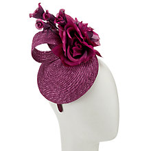 Buy John Lewis Martha Woven Pillbox Fascinator, Burgundy Online at johnlewis.com