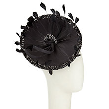 Buy John Lewis Meryl Mini Disc Diamante Shantung Fascinator, Black Online at johnlewis.com