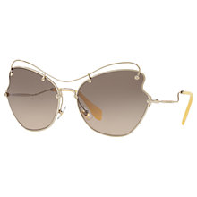 Buy Miu Miu MU 56RS Cat's Eye Sunglasses, Silver/Grey Gradient Online at johnlewis.com