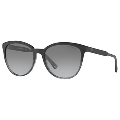 Emporio Armani EA4101 Cat's Eye Sunglasses, Black/Grey Gradient