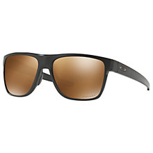 Buy Oakley OO9360 Polarised Crossrange XL Prizm Square Sunglasses Online at johnlewis.com
