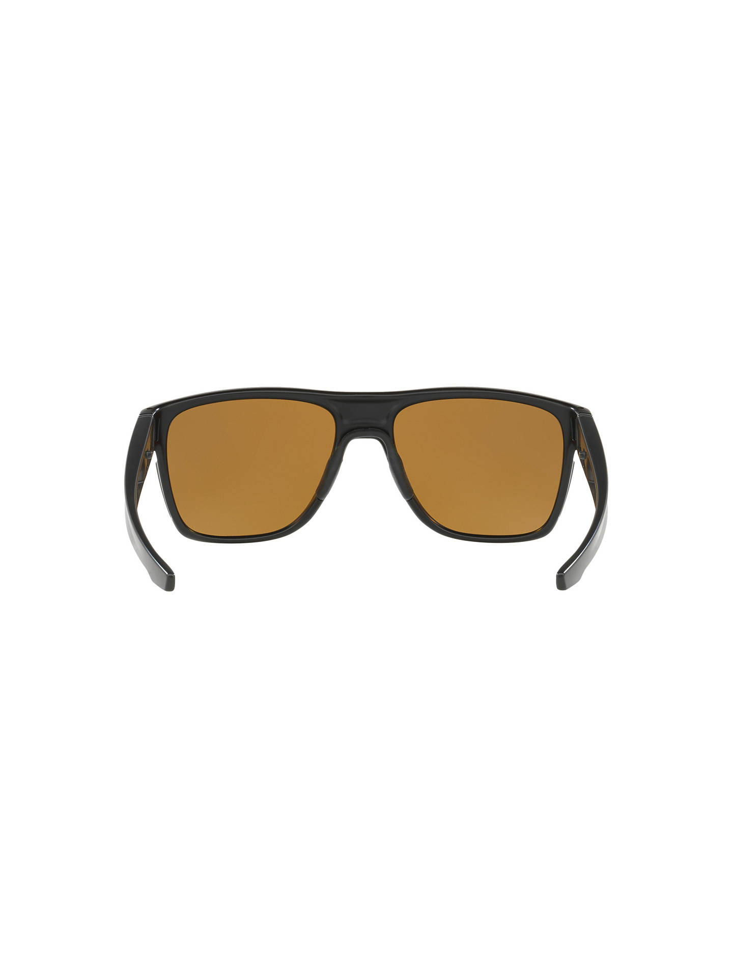 BuyOakley OO9360 Polarised Crossrange XL Prizm Square Sunglasses, Matte Black/Brown Online at johnlewis.com