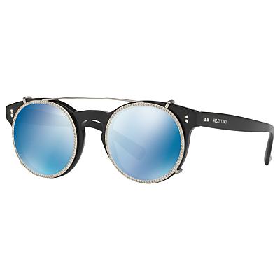 Valentino VA4009CB Textured Round Sunglasses