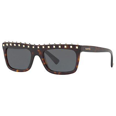 Valentino VA4010 Studded Rectangular Sunglasses