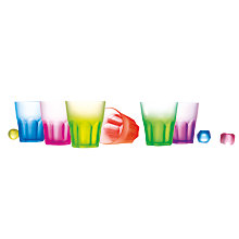 Buy Luminarc Glass Neon Tumblers, Set of 6, Assorted Colours Online at johnlewis.com