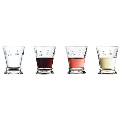 Product photo of La roch re bee small goblet set of 4 185ml clear