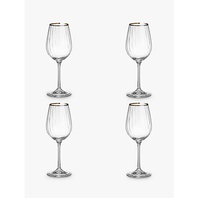 John Lewis Croft Collection Oakham Platinum Band White Wine Glass, Set of 4