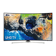 "Buy Samsung UE49MU6200 Curved HDR 4K Ultra HD Smart TV, 49"" with TVPlus, Black Online at johnlewis.com"
