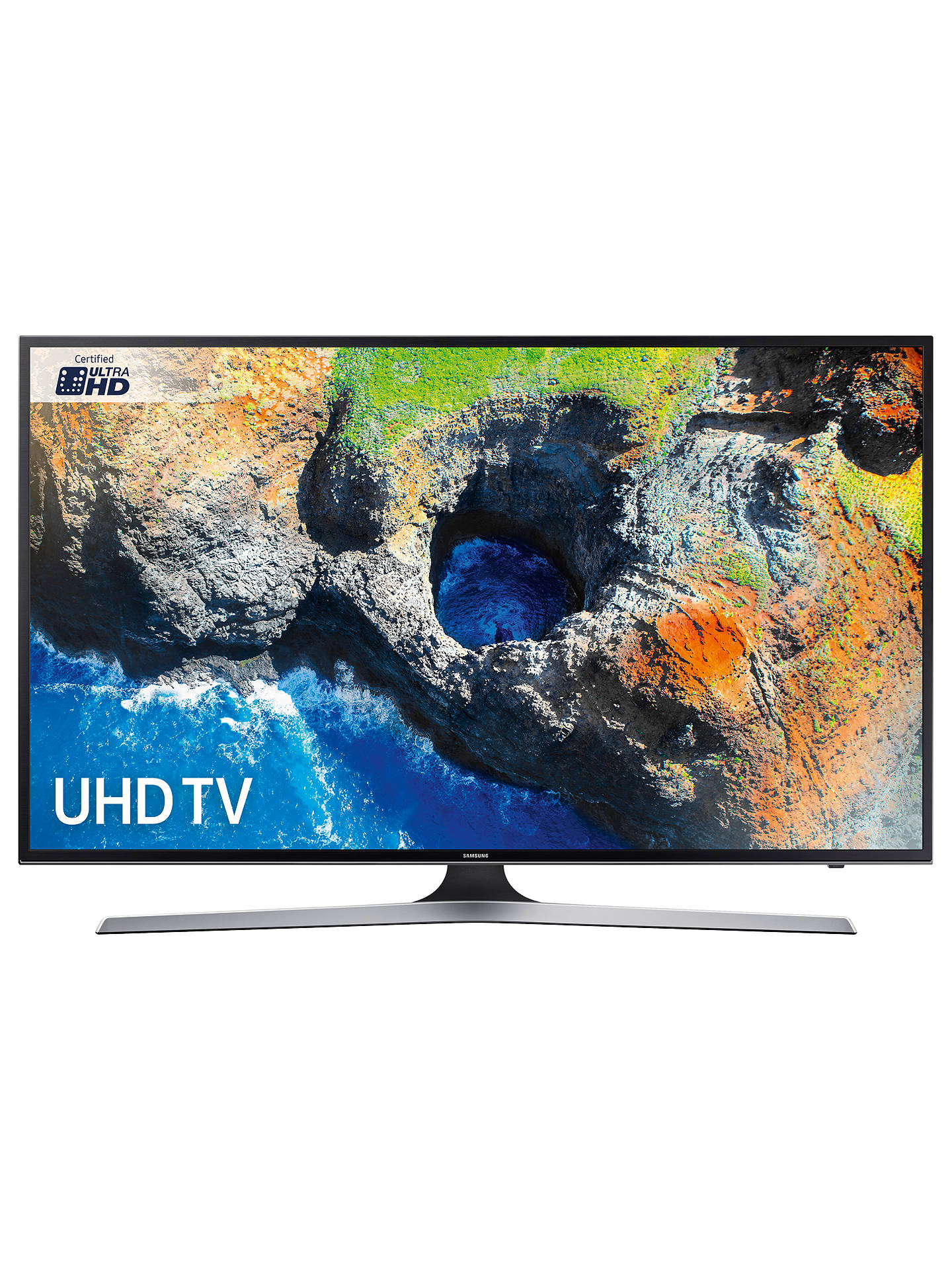 "BuySamsung UE40MU6100 HDR 4K Ultra HD Smart TV, 40"" with TVPlus, Black Online at johnlewis.com"