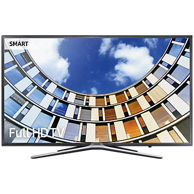 Samsung UE43M5500 LED Full HD 1080p Smart TV, 43 with TVPlus, Dark Grey