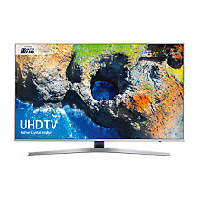 "Buy Samsung UE40MU6400 HDR 4K Ultra HD Smart TV, 40"" with TVPlus/Freesat HD & Active Crystal Colour, Silver Online at johnlewis.com"