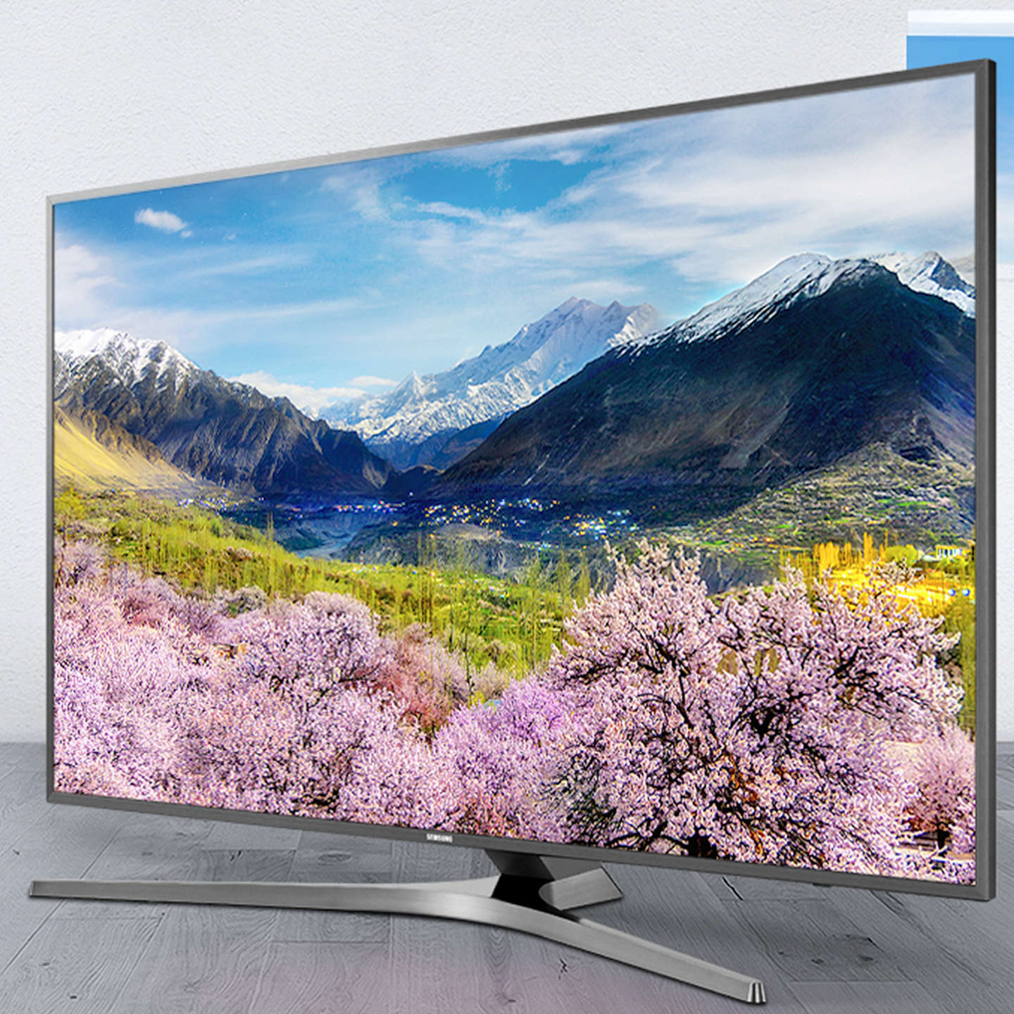 "BuySamsung UE40MU6400 HDR 4K Ultra HD Smart TV, 40"" with TVPlus/Freesat HD & Active Crystal Colour, Silver Online at johnlewis.com"