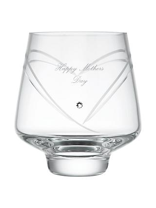 Dartington Crystal Personalised Romance Votive, Palace Script Font