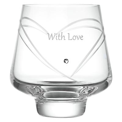 Dartington Crystal Personalised Romance Votive, Gabriola Font