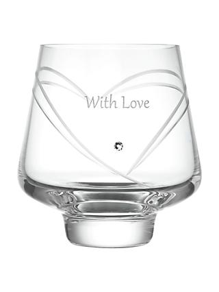 Dartington Crystal Personalised Romance Votive, Gabriola Font