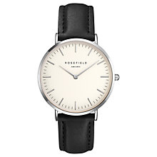 Buy ROSEFIELD Women's The Bowery Leather Strap Watch Online at johnlewis.com