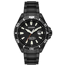 Buy Citizen BN0147-57E Men's Royal Marines Commandos Limited Edition Date Titanium Bracelet Strap Watch, Black Online at johnlewis.com