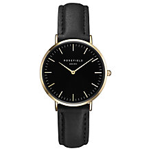 Buy ROSEFIELD TBBG-T56 Women's The Tribeca Leather Strap Watch, Black Online at johnlewis.com