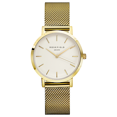 ROSEFIELD Women's The Tribeca Mesh Bracelet Strap Watch