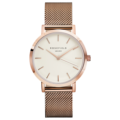 ROSEFIELD Women's The Mercer Mesh Bracelet Strap Watch