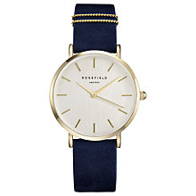 Buy ROSEFIELD WBUG-W70 Women's The West Village Leather Strap Watch, Navy/White Online at johnlewis.com