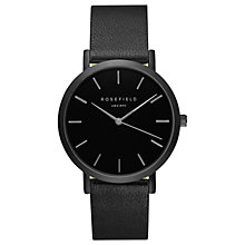 Buy ROSEFIELD GBBB-G38 Women's The Gramercy Leather Strap Watch, Black Online at johnlewis.com
